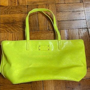 Kate Spade bright yellow bag with zip pocket